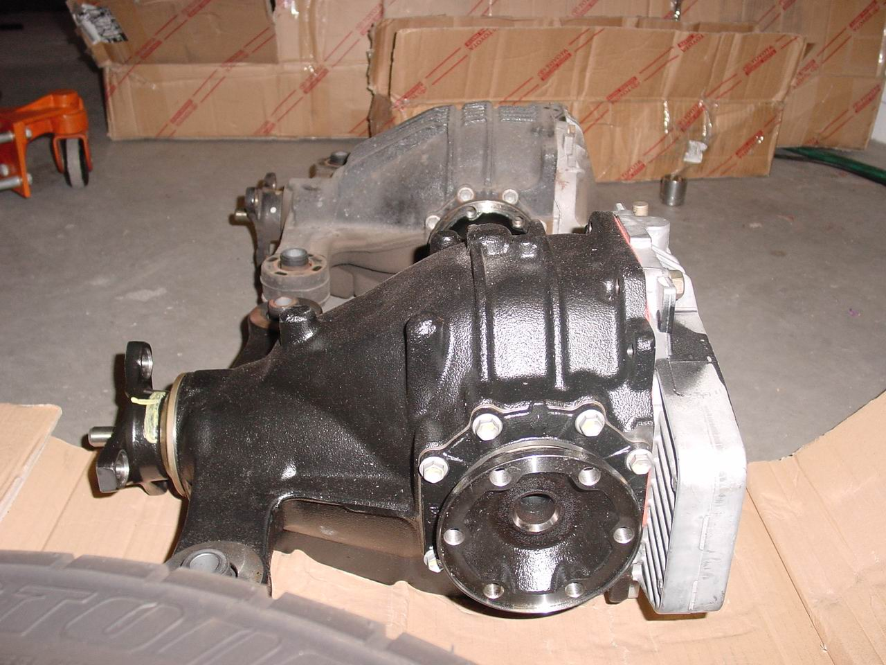 installation of the 6spd differential drive shaft left axle. Black Bedroom Furniture Sets. Home Design Ideas